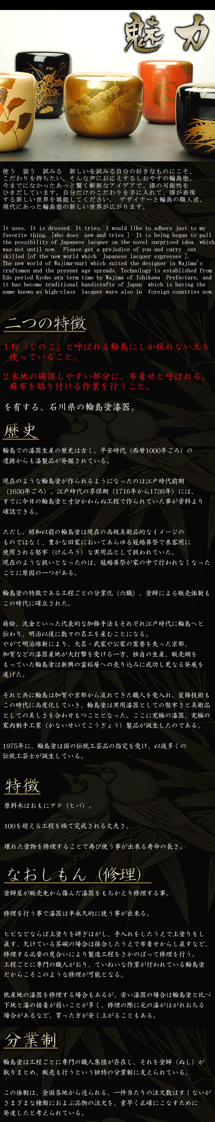 【漆器】輪島塗の魅力